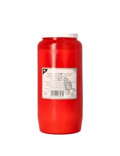 Velón ofrendas en envase rojo T6 Ø 6,8 x 14,2 cm