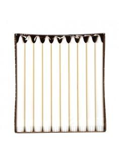 Velas candelabro blancas de estearina con corona Ø 2,3 x 24 cm