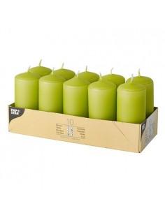 Velas de taco pequeñas verde kiwi Ø 40 x 90 mm