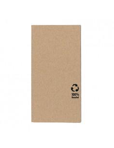 Servilletas papel reciclado ecológicas color natural 1/8 33 x 33cm