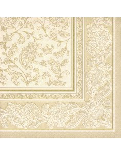 Servilletas papel decoradas Royal Collection champan 40 x 40 cm Ornaments
