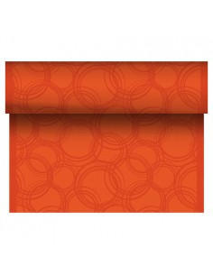 Camino de mesa papel Royal Collection Bubbles naranja 24 m x 40 cm