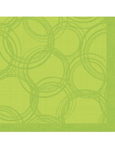Servilletas de papel decoradas 40 x 40 cm verde Bubbles Royal Collection