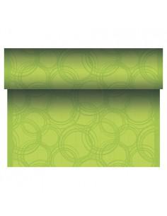 Camino de mesa papel Royal Collection Bubbles verde 24 m x 40 cm