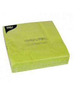 Servilletas de papel color verde limón 40 x 40 cm