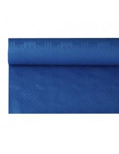 Rollo mantel papel gofrado damasco azul oscuro 8 m