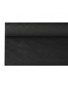 Rollo mantel papel gofrado damasco negro 8 metros