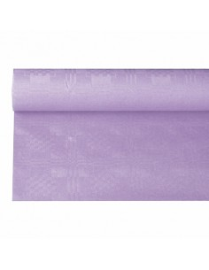 Rollo mantel papel color lila gofrado damasco 6 x 1,2m