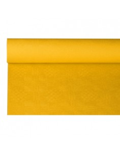 Rollo mantel papel gofrado damasco amarillo 8 m x 1,2 m