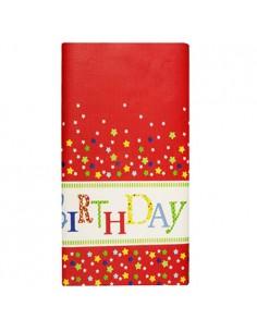 Mantel papel fiesta cumpleaños individual decorado 120 x 180cm