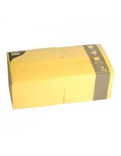 Servilletas de papel amarillas hostelería 33 x 33 cm 1/8