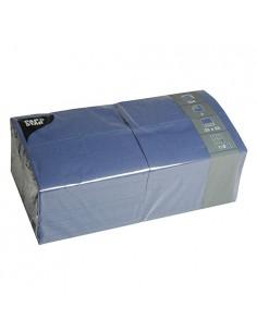 Servilletas de papel azul oscuro hostelería 33 x 33 cm 1/8