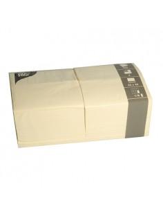 Servilletas de papel crema hostelería 33 x 33 cm 1/8