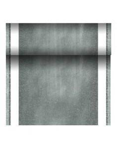 Camino mesa papel tisú tela Royal Collection gris 24 m x 40 cm Chalk
