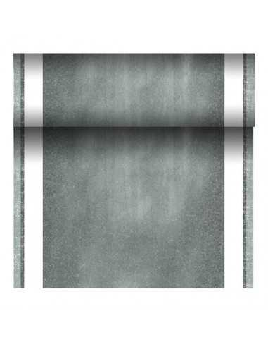 Camino mesa papel tisú tela Royal Collection gris 24 m x 40 cm Chalk