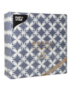 Servilletas de papel decoradas Royal Collection 40 x 40 cm azul Delf