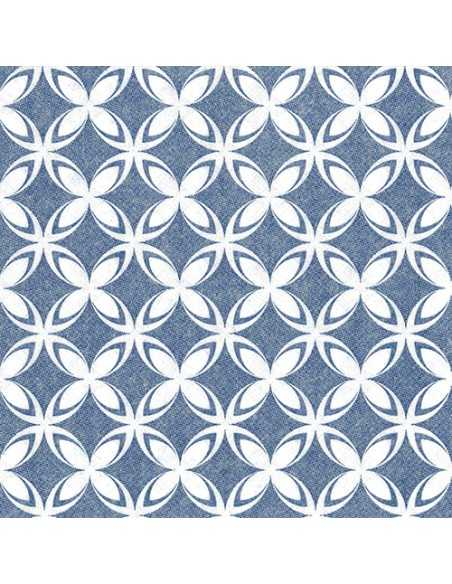 Servilletas de papel decoradas Royal Collection 40 x 40 cm azul Delf