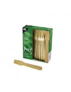 Cucharillas helado de madera compostables 9,4 cm Pure