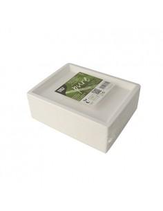 Platos caña azúcar rectangular compostables blanco 14 x 17 cm Pure