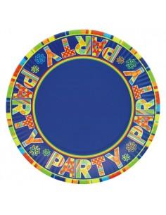 Platos de cartón fiestas decorados New Party Ø 23 cm
