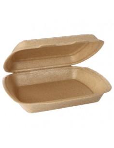 Envases tapa bisagra para menús para llevar beige