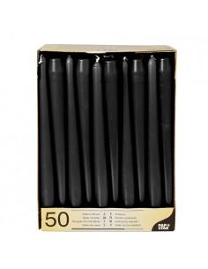Velas de candelabro color negro Ø 2,2 x 25 cm