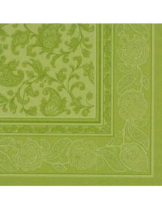 Servilletas papel decoradas Royal Collection verde oliva 40 x 40 cm Ornaments