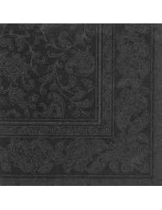 Servilletas papel decoradas Royal Collection negro 40 x 40 cm Ornaments
