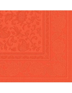 Servilletas papel decoradas Royal Collection naranja nectarina 40 x 40 cm Ornaments