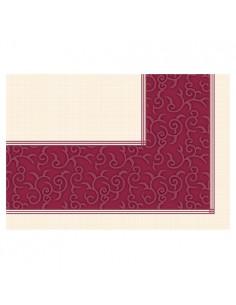 Manteles de papel individuales Soft Selection Plus burdeos Casali