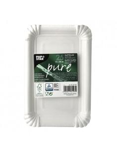 Bandejas de cartón blanco rectangular repostería 13 x 20 cm