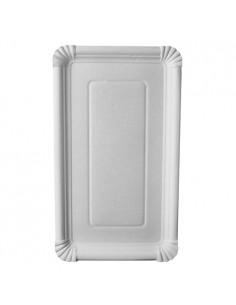 Bandejas de cartón blanco repostería compostables 18 x 33cm Pure