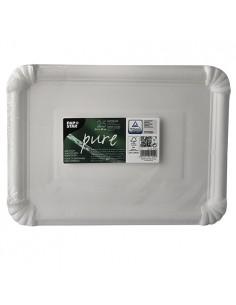Bandejas de cartón blancas servicio pastelería 21,5 x 29 cm Pure