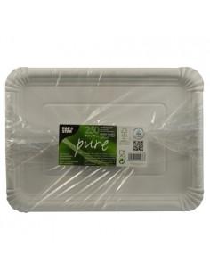 Bandejas de cartón blanco servicio pastelería 21,5 x 29 cm Pure