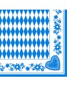 Servilletas de papel ocktoberfest Baviera Azul 40 x 40cm