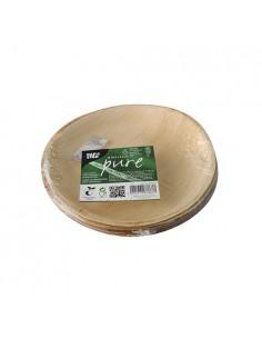 Platos redondos hoja de palma compostables Ø18,5 cm Pure