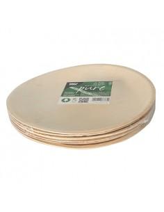Platos redondos compostables hoja de palma natural Ø 23 Pure