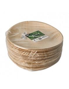 Platos redondos compostables hoja de palma Pure Ø 23