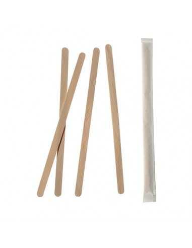 Removedores madera envueltos individualmente largos 17,8cm x 6mm Pure
