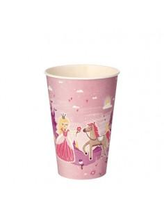 Vasos de cartón fiestas infantiles princesa compostables 200ml