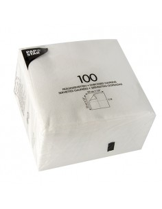 Servilletas de papel económicas color blanco 33x33cm