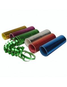 Serpentinas papel metalizado colores surtidos 4 m
