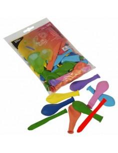 Globos de formas diferentes en colores surtidos