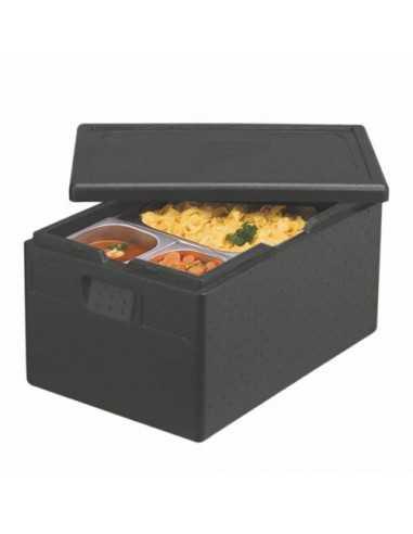 Caja de transporte isotérmica Gastro-Norm de color negro 39 Litros