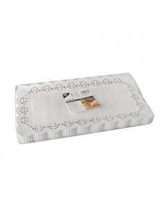 Blondas papel blanco pastelería rectangulares 34 x 17cm