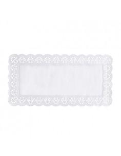 Blondas de papel blanco bandejas rectangulares 40 x 20 cm