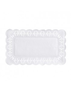 Blondas papel blanco pastelería repostería rectangulares 30 x 18