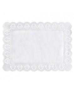 Blondas papel blanco pastelería repostería rectangulares 45 x 32cm