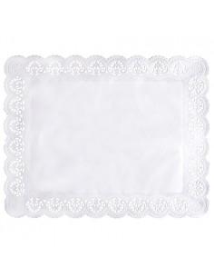 Blondas papel blanco pastelería repostería rectangulares 46 x 36 cm