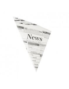 Bolsas cónicas papel prensa para fritos antigrasa 250 gr Newsprint